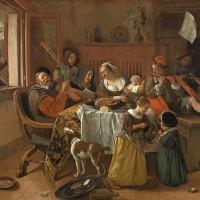 Jan Steen, A Família Alegre